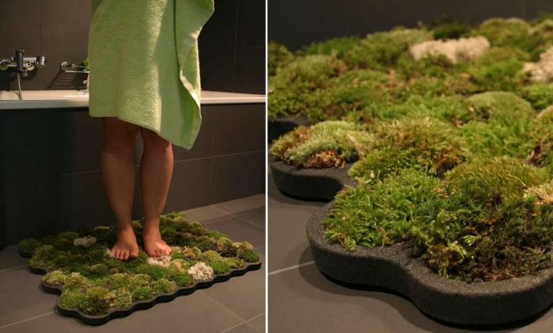 un insolite tapis de bain organique qui