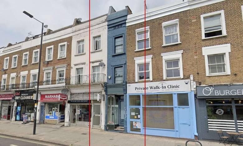 La plus étroite maison d'Europe se trouve à Londres et elle est à vendre 1,3 millions de dollars...