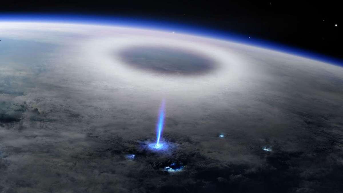 Observé depuis la Station spatiale internationale un mystérieux jet bleu met les scientifiques en émoi ! - NeozOne