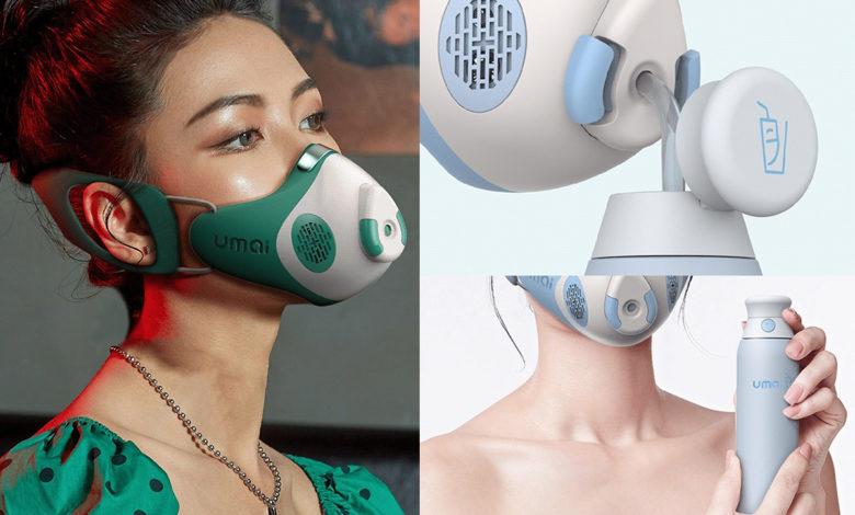 Il invente un masque qui permet de se restaurer, sans le retirer !
