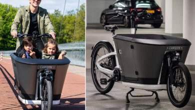 Un vélo cargo spécialement étudié pour les transporter des enfants