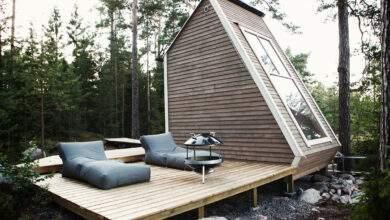 Nido est une petite cabane avec mezzanine de 10 mètres carrés.