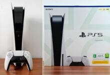 La boite, la console et la manette DualSense PS5