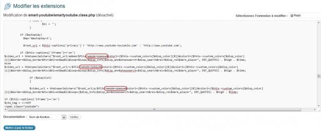 Modifier le code source de Smart Youtube